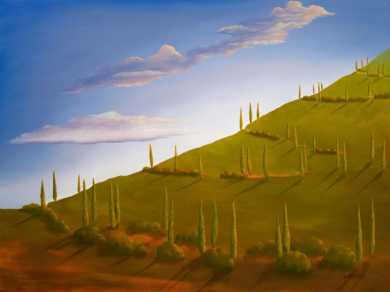 hiking tuscany 30 x 40