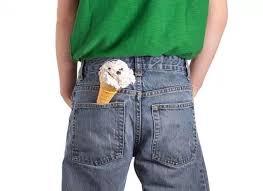 ice cream in pocket